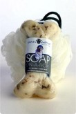 Esponja y jabón con forma de hueso